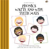 Phonics Write and Wipe Teeth Mats