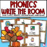 Thanksgiving Themed Phonics Write the Room