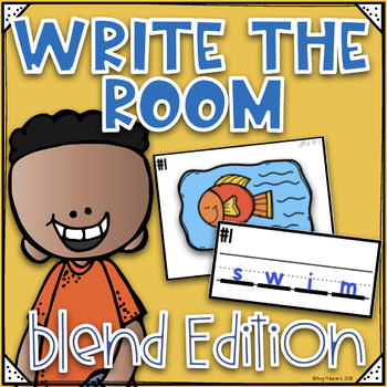Phonics Write the Room~ Blends Write the Room- Orton Gillingham Style