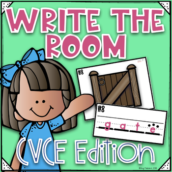 Phonics Write the Room~ CVCE Write the Room- Orton Gillingham Style