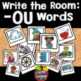 Phonics Write the Room: -OU Words