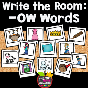 Phonics Write the Room: -OW Words