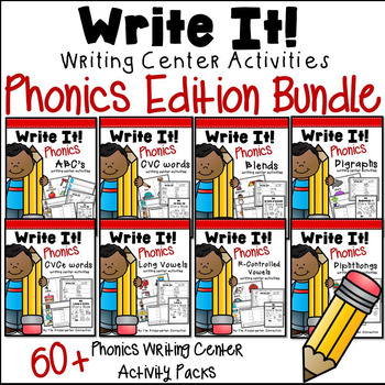 Phonics Writing Centers for the YEAR