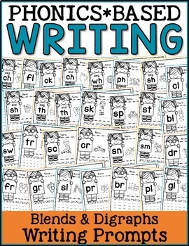 Phonics Writing Prompts - Blends and Digraphs