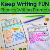 Phonics Writing Prompts with Word Bank Bundle