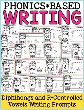 Phonics Writing Prompts - Diphthongs and R-Controlled Vowels