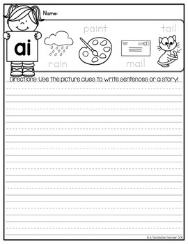 Phonics Writing Prompts - Long Vowels