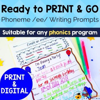 Phonics Writing Prompts Sound ee