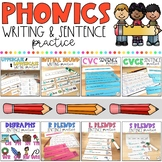 Phonics Writing & Sentence Practice: Growing Bundle