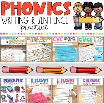 Phonics Writing & Sentence Practice: Growing Bundle