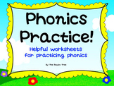 Phonics Writing and Listening Practice Worksheet