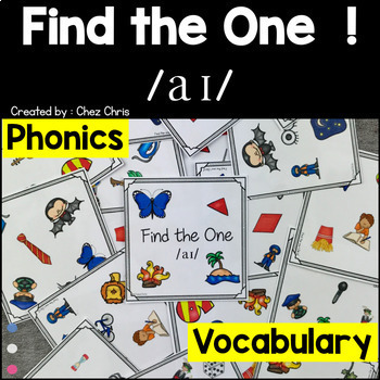 Phonics -   /a/ , /ai/ , /ei/ and /i/ -  4 Find the one Games + flashcards
