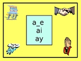 Phonics: a_e, ai, ay (pictures and words)