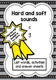 Phonics activity pages: Hard and soft sounds
