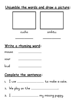 Phonics activity pages: Same sound different spelling