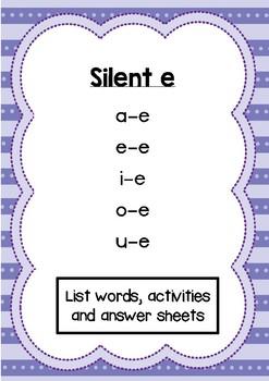 Phonics activity pages: Silent e