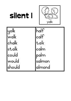 Phonics activity pages: Silent letters