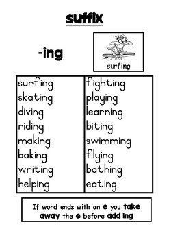 Phonics activity pages: prefixes and suffixes