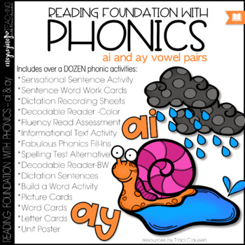 Phonics - LONG A - ai and ay - Reading Foundation with Phonics
