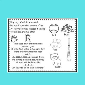 Alphabet Worksheets for Kindergarten a Letter a Week