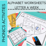 Alphabet letter Worksheets for Kindergarten a Letter a Week