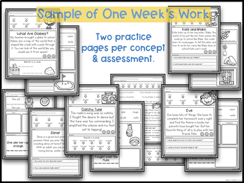 Phonics and Fluency Unit 3~ Phonics Worksheets and Fluency Passages
