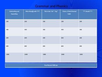 Phonics and Grammar Game