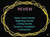Phonics and Grammar Review Power Point