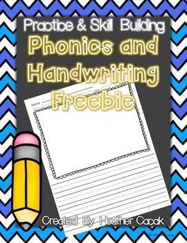 Phonics and Handwriting Recording Sheet PreK-1 FREE