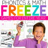 Phonics and Math Movement Activities | FREEZE Games