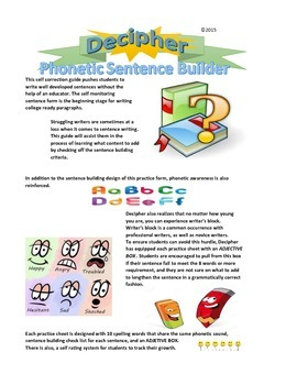 "Phonics and Sentence Builder Practice Sheet Soft ""g"" sound with ""dge"""