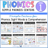 Phonics Bundle 1 Literacy Centers
