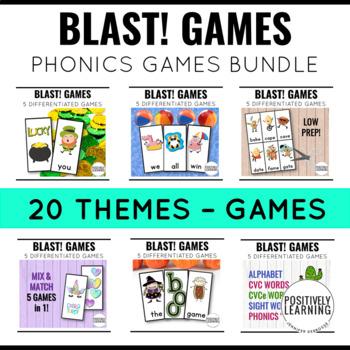 Phonics and Sight Word Blast Game BUNDLE