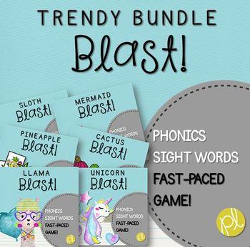 Phonics and Sight Word Blast Game Trendy BUNDLE