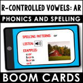 Phonics and Spelling Boom Cards | R-Controlled Vowels: ar | Phonics Practice