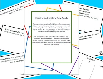 Phonics and Spelling Rule Cards with Bonus Homonym Cards
