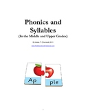 Phonics and Syllables in the Middle and Upper Grades--Anot
