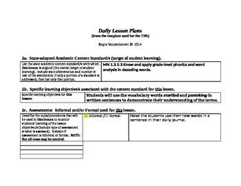 Phonics and Word Analysis