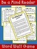 FREEBIE - Sight Word Game - Be a Mind Reader!