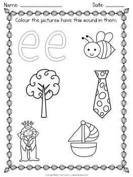 Phonics - beginners pack for Kinder