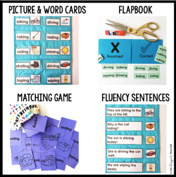 Phonics by Design CVCe Words + Inflectional Ending -ING Mini Unit