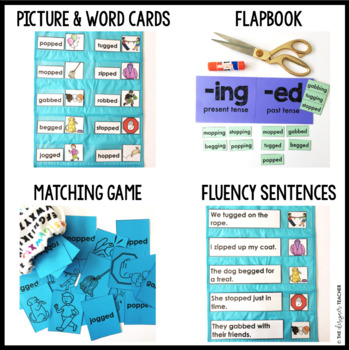 Phonics by Design Double Consonants + Inflectional Ending -ED Mini Unit