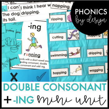 Phonics by Design Double Consonants + Inflectional Ending -ING Mini Unit
