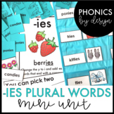 Phonics by Design Plural Words with Inflectional Ending -IES Mini Unit