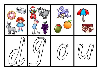 Phonics cards with cue images