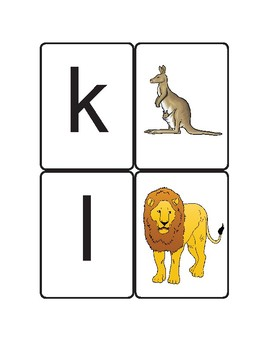 Phonics centre activity--beginning letters matching.