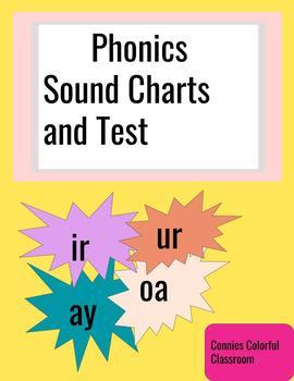 Phonics charts and test