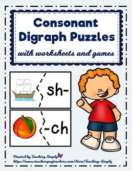 Consonant Digraphs Puzzles
