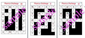 Phonics crossword challenges