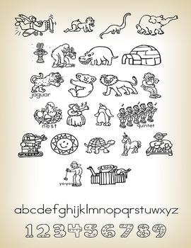 Phonics family font (2 fonts)